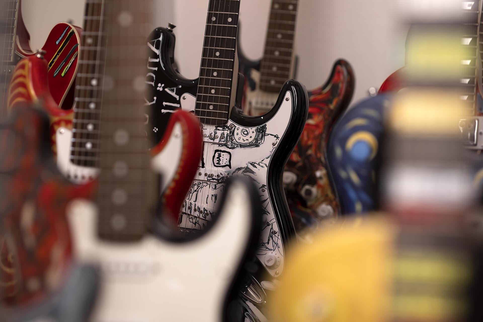 guitarer malet af musikere